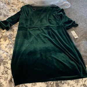 Donna Morgan green velvet dress